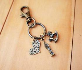 Charm Keychain, Romantic Big Ben