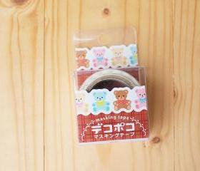 masking tape, Bear, die cut