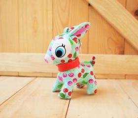 Puchi Babie, Bambi deer key chain, Green, Red cheery
