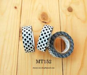 Japanese Masking tape, MT152, Black, Polka dot