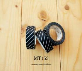Japanese Masking tape, MT153, Black, Stripe