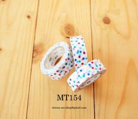 Japanese Masking tape, MT154, Mix Colorful Dot