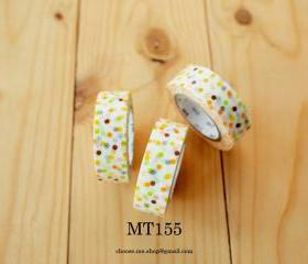Japanese Masking tape, MT155, Mix, Colorful dot