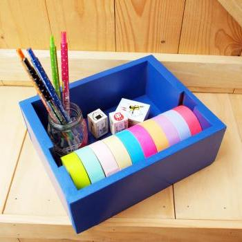 Masking tape Organizer, Navy Blue