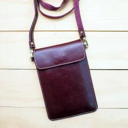 Passport, Travel, Leather bag, PURPLE